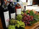 wine, grapes, avacados